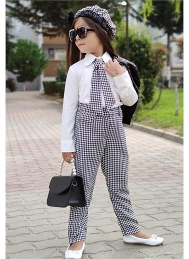Riccotarz Kız Çocuk Deri Ceketli Kravatlı 5li Alt Üst Takım Renkli